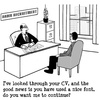 Cartoon: Good Font (small) by cartoonsbyspud tagged cartoon,spud,hr,recruitment,office,life,outsourced,marketing,it,finance,business,paul,taylor