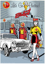Cartoon: Lets Go Electric! (small) by ian david marsden tagged electric,energy,renewable,alternative,car,automobile,retro,poster,pinup,fifties,sixties,advertising,illustration,illustrator,vector,marsden