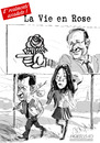 Cartoon: La Vie en Rose (small) by portos tagged hollande,ssarkozy,carla,bruni,partito,socialista,francese
