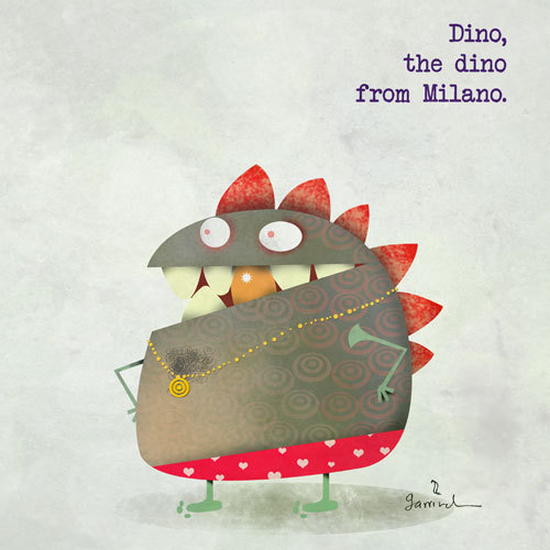 Cartoon: dino the dino from Milano (medium) by Garrincha tagged illustration,dino