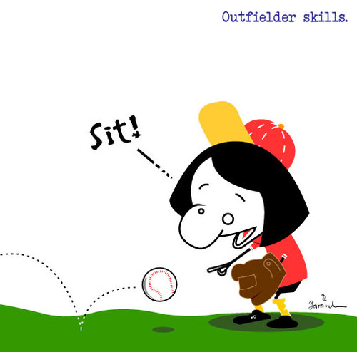 Cartoon: Summer skills (medium) by Garrincha tagged vector,illustration