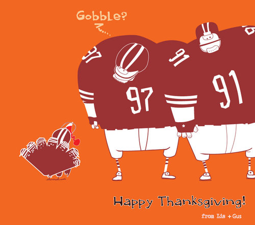 Cartoon: Thanksgiving. (medium) by Garrincha tagged greeting,card