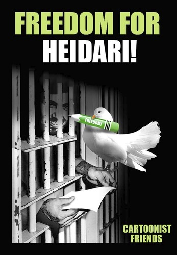 Cartoon: FREEDOM FOR HEIDARI!!! (medium) by saadet demir yalcin tagged freedom