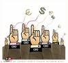 Cartoon: Ceo s of the future... (small) by saadet demir yalcin tagged saadet,sdy,economic,crisis