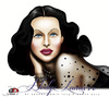 Cartoon: Hedy Lamarr (small) by saadet demir yalcin tagged saadet,sdy,hedy,lamarr