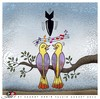 Cartoon: Intolerance (small) by saadet demir yalcin tagged saadet,sdy,intolerance,music,birds