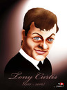 Cartoon: Tony Curtis has passed away (small) by saadet demir yalcin tagged tonycurtis,saadet,syalcin,sdy,turkey,cinema