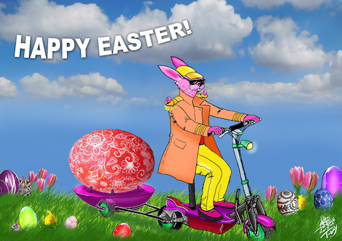 Cartoon: HAPPY EASTER (medium) by T-BOY tagged happy,easter