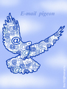 Cartoon: E MAIL  PIGEON (small) by T-BOY tagged mail pigeon