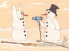 Cartoon: SNOWMAN ATTACK (small) by T-BOY tagged snowman