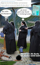 Cartoon: mann sieht schwarz (small) by wheelman tagged burka,bayern