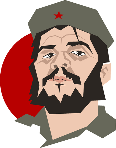 Cartoon: Che Guevara poster (medium) by geomateo tagged revolution,castro,cuba,guevara,che