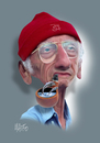 Cartoon: Jacques-Yves Cousteau (small) by geomateo tagged jacques,yves,cousteau,biodiversity
