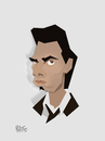 Cartoon: Nick Cave- cut out caricature (small) by geomateo tagged nick,cave
