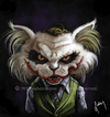 Cartoon: joker (small) by sahannoyan tagged joker cat kedi sahan noyan caricature illustration