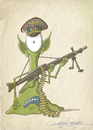 Cartoon: alien army 4 (small) by engin SELCUK tagged alliens