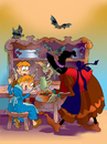 Cartoon: hansel ve gretel (small) by neseevitan tagged sos