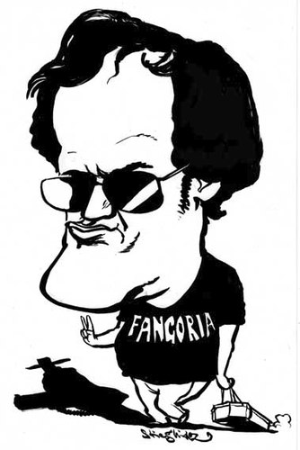 Cartoon: Quentin Tarantino (medium) by stieglitz tagged unchained,django,caricature,karikatur,tarantino,quentin
