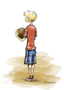 Cartoon: b-ball (small) by michaelscholl tagged boy basketball sports
