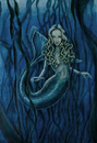 Cartoon: mermaid1 (small) by michaelscholl tagged mermaid,blue,water,sexy,blond