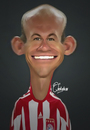 Cartoon: Arjen Robben (small) by Quidebie tagged arjen,robben,bayern,soccer,voetbal,funny,fun,caricature,karikatuur,psv,holland,nederlands,elftal,real,madrid