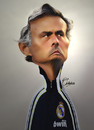 Cartoon: Jose Mourinho (small) by Quidebie tagged chelsea,real,madrid,jose,mourinho,fun,funny,caricature,coach,soccer,portugal,spain,barcelona,fc,voetbal,trainer,sport,the,special,one,photoshop,foto,plaatje,karikatuur
