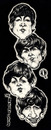 Cartoon: The Beatles (small) by Grosu tagged beatles,rock