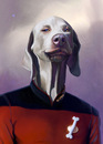 Cartoon: Jean Luc Picard (small) by fantasio tagged picard,captain,star,trek,dog,portrait