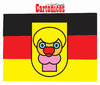 Cartoon: Merkel Flag (small) by jose sarmento tagged merkel flag