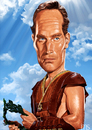Cartoon: Ben-Hur (small) by JMSartworks tagged caricature,actors,filmmakers,hollywood,paintool,sai,painter