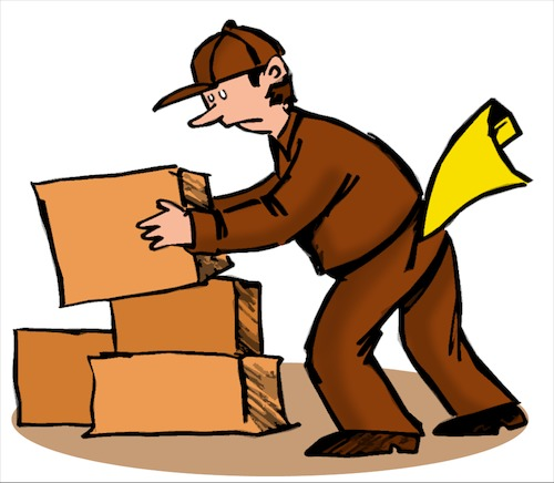 Cartoon: Package Delivery (medium) by dbaldinger tagged delivery,post,packages,ups,delivery,post,packages,ups