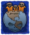 Cartoon: Dead Earth (small) by dbaldinger tagged ecology pollution environment earth nature