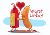 Cartoon: Sausage Love (small) by dbaldinger tagged currywurst,food,berlin,street,vendor,sausage