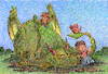 Cartoon: The Storyteller (small) by dbaldinger tagged fantasy,children,dragon,story