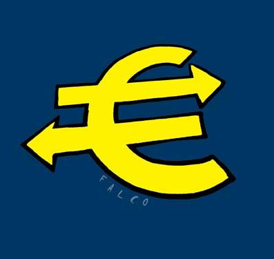 Cartoon: euro (medium) by alexfalcocartoons tagged euro