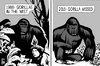 Cartoon: Harambe the gorilla (small) by sinann tagged gorilla,harambe,mist,missed,death,killed