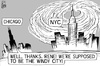 Cartoon: Hurricane Irene (small) by sinann tagged hurricane,irene,nyc,new,york,city,chicago,windy