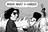Cartoon: Kim and Gaddafi (small) by sinann tagged kim,jong,il,gaddafi,hell,meeting