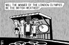 Cartoon: London Olympics (small) by sinann tagged london,olympics,british,weather