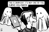 Cartoon: Snapchat Halloween (small) by sinann tagged snapchat,app,halloween,ghosts