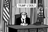 Cartoon: Trump President (small) by sinann tagged trump,donald,president,usa,trompe,oeil