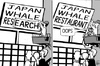 Cartoon: Whale research (small) by sinann tagged whale,research,science,japan,restaurant,food