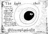 Cartoon: Rejected Ad - Apple iBall (small) by laughzilla tagged apple,iball,eyeball,eye,ball,rejected,ad,publicity,fail,product,satire,computer,tech