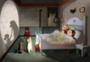 Cartoon: It is show time! (small) by taravat niki tagged kitten,cat,kitty,story,sleeping,night,shadow,shade,friendship,bedroom
