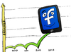 Cartoon: Facebook mobile ads revenue jump (small) by BinaryOptions tagged facebook,earnings,mobile,advertising,revenue,shares,stock,market,binary,option,options,trade,trading,optionsclick,editorial,cartoon,caricature,financial,business,news