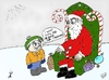 Cartoon: Kid wants oil and gold for Xmas (small) by BinaryOptions tagged optionsclick,binary,option,options,trading,trader,santa,claus,kid,oil,gold,asset,assets,financial,economic,business,cartoon,caricature,comic,christmas,xmas