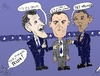 Cartoon: Romney Obama Gump caricature (small) by BinaryOptions tagged mitt,romney,candidate,president,barack,obama,forrest,gump,debate,political,caricature,editorial,business,comic,cartoon,optionsclick,binary,options,trader,option,trading,trade,news,satire
