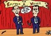 Cartoon: Spitzer and Weiner cartoon (small) by BinaryOptions tagged spitzer,weiner,binary,option,options,trade,trader,trading,political,politician,optionsclick,caricature,webcomic,cartoon,comic,satire,financial,editorial,news
