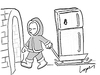Cartoon: Global Warming Precaution (small) by Lopes tagged eskimo,iglu,climate,change,refrigerator,fridge,home,cold,ice