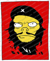 Cartoon: Che Guevara (small) by gamez tagged che guevara red black yellow white four square one two three